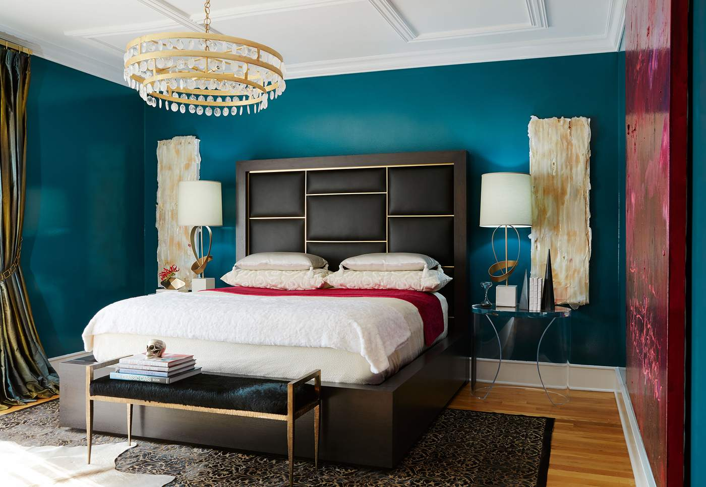Layered Rugs And A Blend Of Colors, Materials, And Finishes Add Depth And  Dimension To A Bedroom Designed By Donna Mondi. Photography By Nick  Novelli, ...
